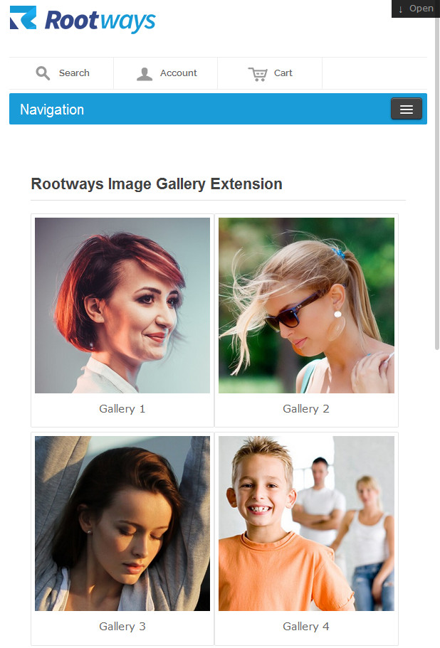 Responsive image gallery image