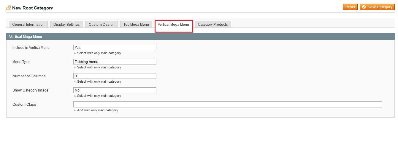 Tabbing menu admin setting image